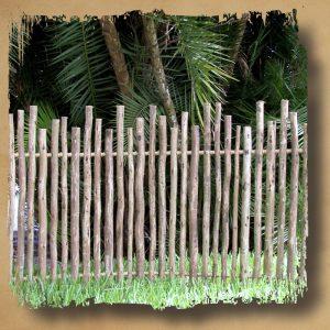 Rustic Eucalyptus Fence Safari Thatch