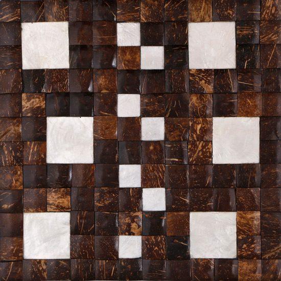 Isabel-Vasco Coconut & Capiz Shell on Marine Plywood