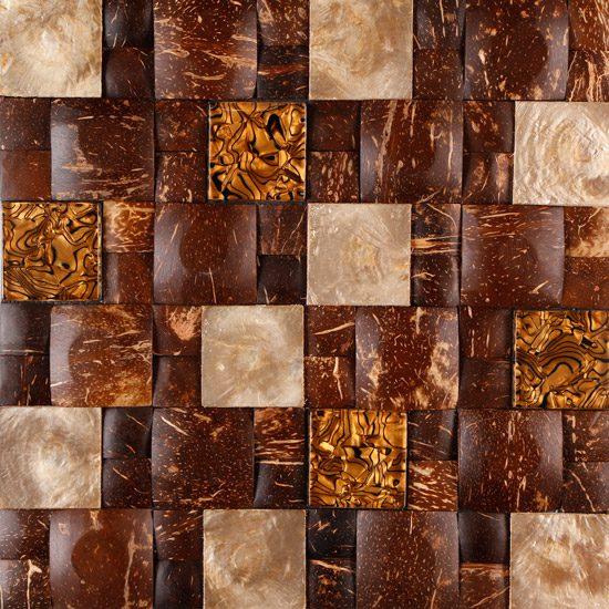 Rivera-Agusan Glass, Coconut & Capiz Shell on Plywood
