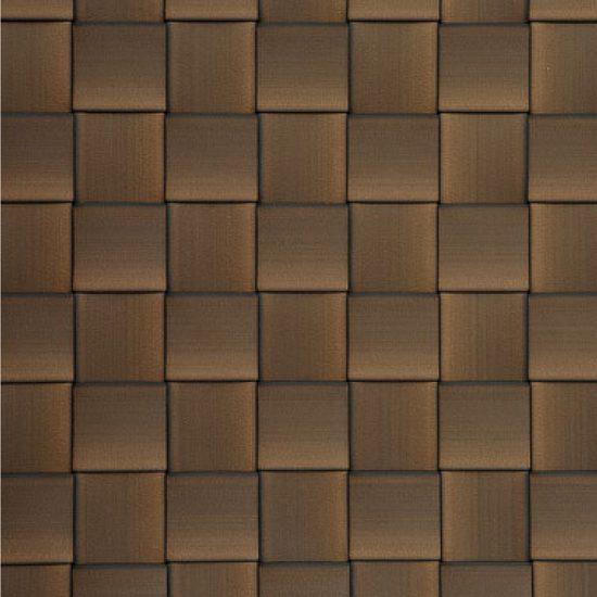 Rich Dark Brown Polyethylene Strips on Box Weave