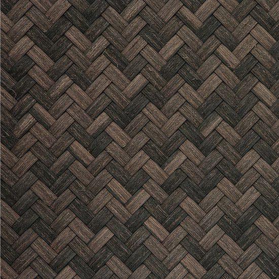 Dark Mahogany Synthetic Medium Basket Weave Matting