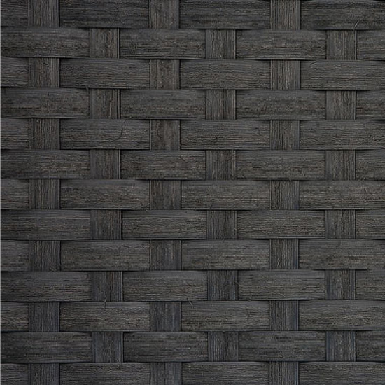 Close Up of Rustic Black Synthetic Matting