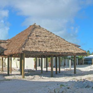 Large Thatch Roof Shade at Beach