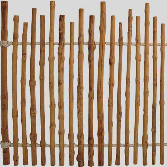 Thin Timber Log Fence