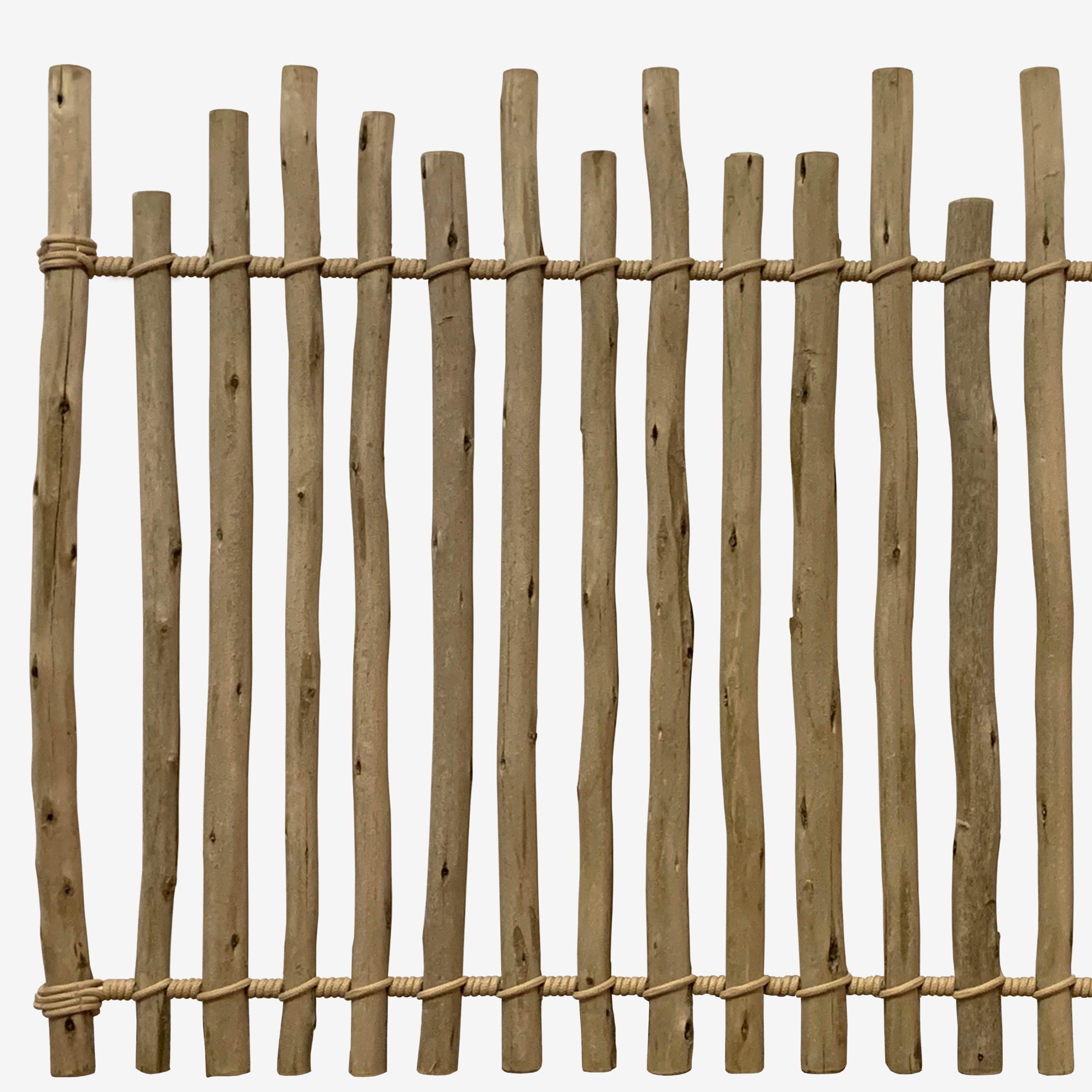 Rustic Eucalyptus Fence